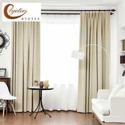 [Byetee] Blackout Rideaux Pour Salon Linge Personnalisé Solide Couleur  Épais Simple Moderne Rideau Chambre Coton Tissu Cortinas