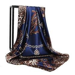 950250b5146 11.11 marque De Luxe designer grand carré écharpe pour femmes Imprimé  Léopard soie foulard femme foulards châles et wraps poncho