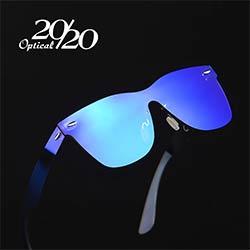 20 20 Marque Vintage Style lunettes de Soleil Hommes Plat Lentille Sans  Monture Carré Cadre Femmes Lunettes de Soleil Oculos Gafas PC1601 b6323d34bbd5