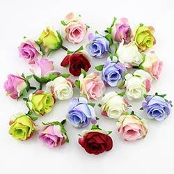 Prix 20 Pieces 3 4 Cm Soie Artificielle Rose Fleur Tete Scrapbooking
