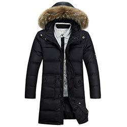 04efcb8899eb9 2016 Nouvelle Mode D hiver Manteau Hommes Chaud Vers Le Bas Mâle De  Fourrure à capuche Longue Épaississement Duvet de Canard Blanc Veste Hiver  Casual Solide ...