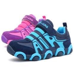 c48591f649299 2017 Automne Hiver Enfants Chaussures Sneakers Mode Enfants Chaussures Pour  Filles Garçons Sport En Cuir Véritable Enfant Chaussures Respirant