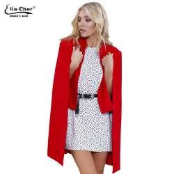 6d1b955a87bca 2017 Eliacher Marque Chic Élégant Femmes Laine Manteau De Mode Ouvrir Point  Mélanges Plus Size Casual Manteau D hiver Vestes