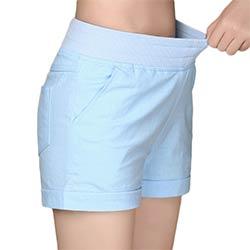 6fc2dca50d 2017 Européen et Américain BF vent d'été femelle de couleur de sucrerie  taille haute short en lin femmes lâche taille élastique shorts plus taille