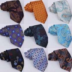 91911641d3583 2017 Livraison gratuite Rayé Marque New Classic Solid Gold Cravates pour  Hommes Soie De Mariage JACQUARD TISSÉ Mode Soie Hommes de Cravate cravate