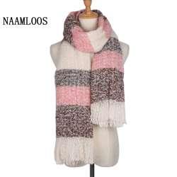 2017 Marque D hiver Écharpe Pour Femmes De Mode Foulards Chaud Doux Cachemire  Plaid Glands Châle Haute Qualité Couverture Chaud Wrap 190 65 cm 0cdd81a57a8