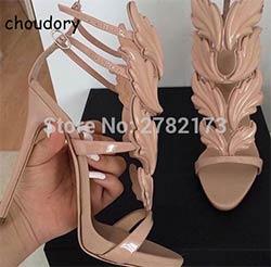 Ailes 2017 Nouveau Prix Luxe Femme Chaussures Feuille Suede Été 08nkXOwP