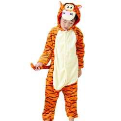 fd16cf36eca56 2017 Nouvelles filles pyjamas enfants garçons Hiver flanelle vêtements de  nuit pour enfants chat Animal À Capuche Tigre polaire pyjamas ensembles  pijama ...
