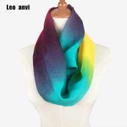 ef8533087fc7 2018 dames foulards femmes gradient écharpe motif mince mousseline de soie  foulard de soie arc-en-anneau écharpe Infinity d été bandana hijab