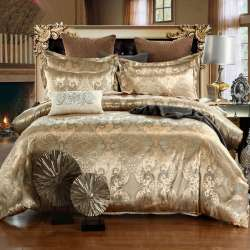 Prix 2018 New Jacquard Bedlinen Queen King Size Duvet Cover Set