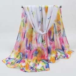 2018 vente Chaude Femme Foulard De Soie Impression Hijab Femmes de Foulards  De Mode polyester Mousseline de Soie Soie doux Écharpes Châle Echarpes  Wraps 051 b7963ead092