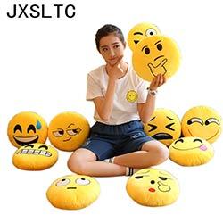 Prix 35 35 Smiley Visage Emoji Oreillers Doux En Peluche Emoticone Ronde Coussin Accueil Mignon De Bande Dessinee Jouet Poupee Decoratif Coussins Site Chinois Moins Cher