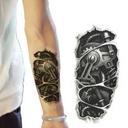Prix 3d Grand Epaule Tatouages Temporaire Tatto Hommes Temporaire Etanche Homme De Tatouage Bras Autocollant Faux Bras Manches Corps De Tatouage Site Chinois Moins Cher