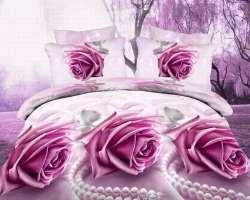 Prix 3d Rose Ensemble De Literie D Impression Bleu Violet Rose