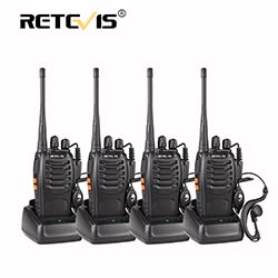 prix 4 pcs portable talkie walkie retevis h777 16ch uhf ham radio hf metteur r cepteur 2 voies. Black Bedroom Furniture Sets. Home Design Ideas
