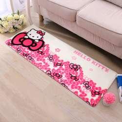 40*60 Cm, 50*80 Cm Hello Kitty Flanelle Enfant Décor Chambre Tapis Pour  Salon Tapis Salle De Bains Maison Super Doux Carpet