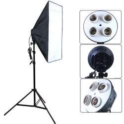 Prix 50 70 Cm Softbox 100 240 V Photo Studio Eclairage E27 4 Lamp