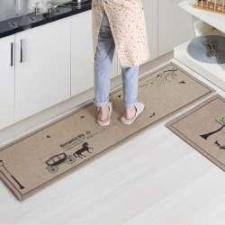 50x80 Cm + 50x160 Cm/set Paillasson Antidérapant Cuisine Carpet/tapis De  Bain Entrée De La Maison Tapis De Sol Couloir Tapis Cuisine Tapis