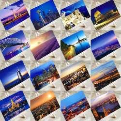 prix 6 pcs dans une carte postale charme ville touristique de no l cartes postales de voeux d. Black Bedroom Furniture Sets. Home Design Ideas