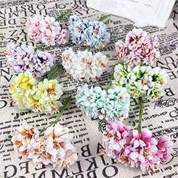 Prix 6 Pcs Rasage Chrysantheme Main Fleur Artificielle Bouquet De