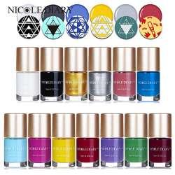Prix 9 ml NICOLE JOURNAL Douce Couleur Nail Art Stamping Polonais ...