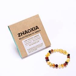 7c72e9c2189b Ambre de la baltique Dentition Bracelet pour Bébé (Multicolore)-Main en  Lituanie-Laboratoire-Testé Authentique-2 tailles