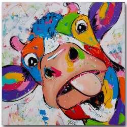 Prix Animal Toile Peintures Moderne Vache Peintures à Lhuile Pour