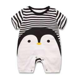 04dcc71263113 Bébé barboteuses d été style Pingouin bébé garçon vêtements nouveau-né fille  à manches courtes Bébé vêtements enfants de Vêtements