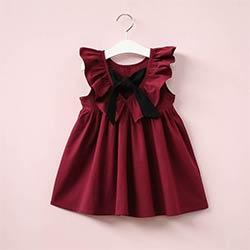 04aaf6b2d721b Bébé Filles Robe Infantile Princesse Robes Pour Fille Avec Arc Mignon Dos  Nu Enfants Vêtements Mode Casual D été Enfants Robes