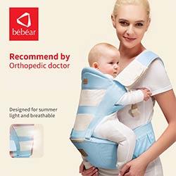 e1a25d967ab3 Bébéar nouveau siège pour hanche hipseat prevet o-type jambes 6 en 1 carry  style charge 20Kg simple porte-bébé Ergonomique sauvegarder effort kid sling
