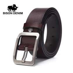 7abd1af6f89 Prix BISON DENIM 2017 nouvelle marque designer ceinture en cuir ...