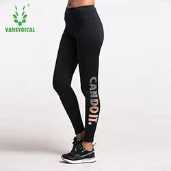 Bronzage Lettres Taille Haute Étiré Pantalons Sport Gym Vêtements Spandex  Collants Running Femmes Sport Leggings Remise En Forme De Yoga Pantalon 0b6dcae962b