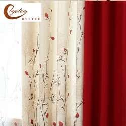 {Byetee} Faux Coton Lin Rideau Moderne Rustique Rouge Qualité Couture Salon  Rideaux Tissus Cuisine Porte Rideaux Rideaux