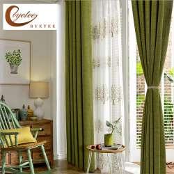 prix byetee moderne faux coton lin vert fen tre rideaux pour salon qualit chambre rideau porte. Black Bedroom Furniture Sets. Home Design Ideas