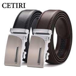 CETIRI hommes à cliquet cliquez ceinture 2018 haute qualité designer  véritable ceintures en cuir de mode automatique boucle ceintures cinturones  hombre a036708e3be