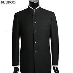 sortie en vente Vente chaude 2019 en ligne Combinaison homme définit Suits tunique chinois col montant classique  costume Blazer marque Business Design formelle homme costume de coton  définit ...