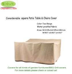 Prix Considérable carré table de jardin et chaise couverture ...