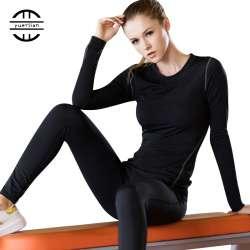 Couche de Base Fitness Sport Chemise À Séchage Rapide Femmes à Manches  longues Top T-shirt Gym jogging Chemise dame Formation Yoga workout  vêtements 454031425de