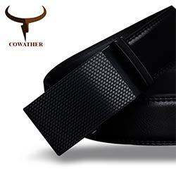 COWATHER Bonne hommes ceinture de luxe haute qualité vache véritable  ceintures en cuir pour hommes automatique boucle mode taille mâle livraison  gratuite 24ea1d7c803