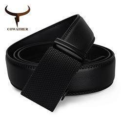 COWATHER Date mode hommes ceinture top vache véritable en cuir automatique  boucle ceintures pour hommes causal ceinture homme livraison gratuite b23ff4891be