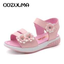 3b0b8521e72f6 COZULMA Filles Fleur Sandales Enfants Plage Pantoufles Chaussures D été  Style Enfants Slip-Résistant Sandales Filles Princesse Chaussures Romaines