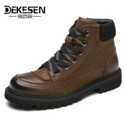 Prix D'hiver chaussures bottes Mens DEKESEN véritable Top Qualité pxqXFpwRr
