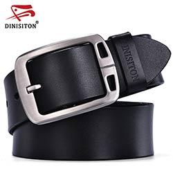 DINISITON hommes vache véritable en cuir homme ceinture de luxe sangle mâle ceintures  pour hommes nouvelle mode vintage boucle ardillon Designer ceinture ... c6f30ee907a