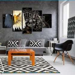 Drop Shipping 5 Piece Toile Art Aigle Moto Peinture Salon Moderne Decoration Impressions Sur Toile Wall Art Image