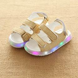 fc06ebd7c614d Enfants Sandales Garçons Filles Sport Sandales D été Lumière LED Enfant  Bébé Plage Sandales Enfants Anti-slip Garçon Fille En Cuir chaussures 2017