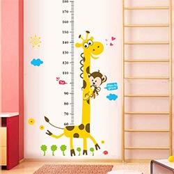 Enfants Toise Wall Sticker Décor de Bande Dessinée Girafe Hauteur Règle  Stickers Muraux Accueil Chambre Décoration Murale Art Autocollant Affiche