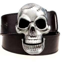 Exagération hommes de ceinture Grand crâne ceinture boucle en métal  ceintures de crâne Squelette hommes punk rock ceinture performance hip hop  ceinture 28b58cffe52