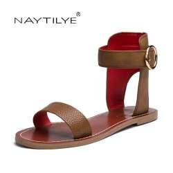Cuir Non Cheville Femme Appartements En Prix Chaussures Casual Wrap uT3KclF1J