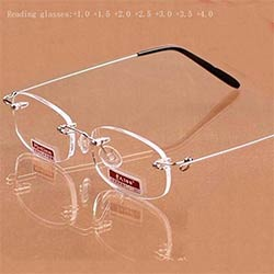 65d49d9f4b967 Femmes des hommes Sans Monture de Titane de Lecture Lunettes de Presbyte  Cadres Antireflet Presbytie lunettes + 1.0 + 1.5 + 2.0 + 2.5 + 3.0 + 3.5 +  4.0