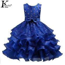 638ddbdcb6200 Filles De Noël Robe Nouveau Enfants Robes Pour Filles Vêtements Parti  Princesse De Mariage robe Enfants Robe 3 5 6 7 8 9 10 11 12 année
